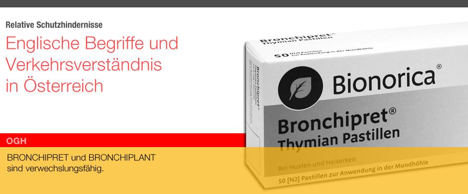 Bronchipret v Bronchiplant