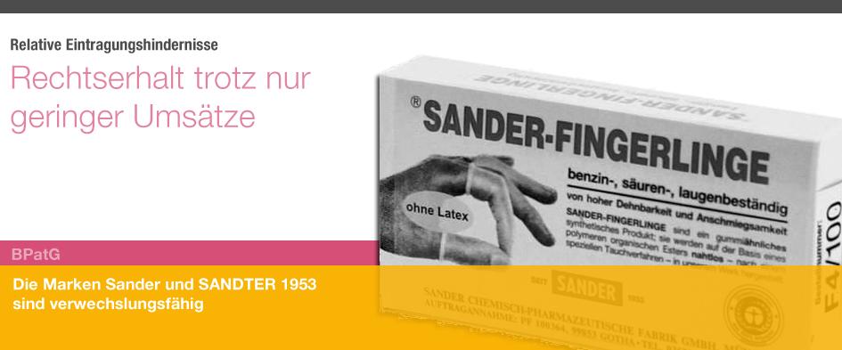 Sander v Sandter 1953